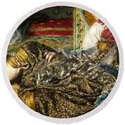 Renoir: Odalisque, 1870 Round Beach Towel