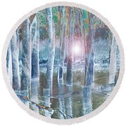 Rescued By The Lord Round Beach Towel