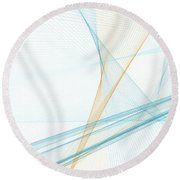 Research Computer Graphic Line Pattern Round Beach Towel