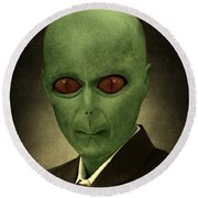 Resident Professor Of Interplanetary Research Area 51 Round Beach Towel