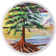 Resilient Cypress Round Beach Towel