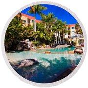 Resort Pool Round Beach Towel