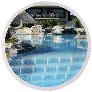 Resort With Swimming Pool Round Beach Towel
