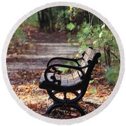 Rest A While Round Beach Towel