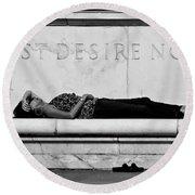 Rest Desire Not Round Beach Towel