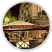 Restaurant In Budapest Round Beach Towel
