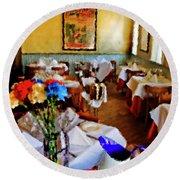 Restaurant In Red Bank 2 Round Beach Towel