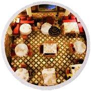 Restaurant Palais Des Merinides Fes Morocco Paint  Round Beach Towel