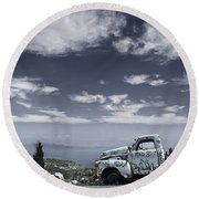 Resting Place 2 Round Beach Towel