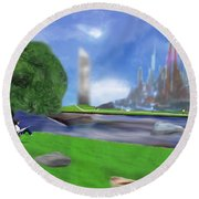 Resting Place / Legacy Round Beach Towel