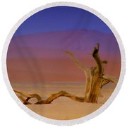 Resting Place Of A Dead Tree Round Beach Towel