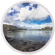 Restronguet Passage Hdr Round Beach Towel