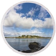 Restronguet Point Cornwall Round Beach Towel
