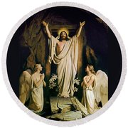 Resurrection Round Beach Towel