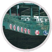 Retired Numbers Round Beach Towel