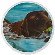 Retriever Play Round Beach Towel