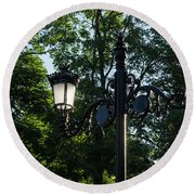 Retro Chic Streetlamps - Old World Charm With A Modern Twist Round Beach Towel