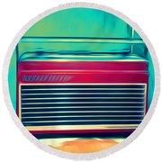 Retro Radio Round Beach Towel