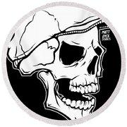 Retro Skull Round Beach Towel