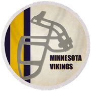 Retro Vikings Art Round Beach Towel