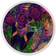 Return Of Paradise Glass Round Beach Towel by Joseph Mosley