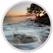 Return To The Sea Round Beach Towel