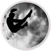 Returning To Earth Round Beach Towel by Bob Orsillo