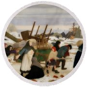 Returning To The Reconquered Land Round Beach Towel