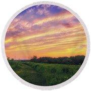 Retzer Nature Center - Summer Sunset #4  Round Beach Towel