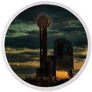 Reunion Tower, Dallas Texas Round Beach Towel