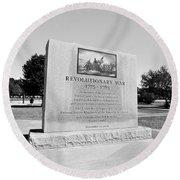 Revolutionary War Memorial 1775 To 1783 Round Beach Towel