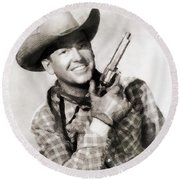 Rex Allen, Vintage Actor Round Beach Towel