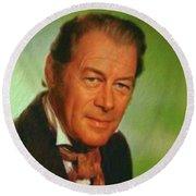 Rex Harrison, Actor Round Beach Towel