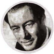 Rex Harrison, Vintage Hollywood Legend Round Beach Towel
