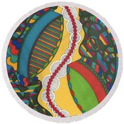 Rfb0421 Round Beach Towel