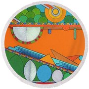 Rfb0425 Round Beach Towel