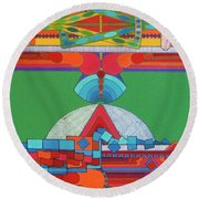 Rfb0428 Round Beach Towel