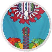 Rfb0434 Round Beach Towel