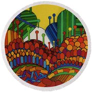 Rfb0508 Round Beach Towel