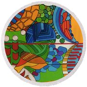 Rfb0515 Round Beach Towel