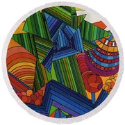 Rfb0517 Round Beach Towel