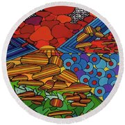 Rfb0522 Round Beach Towel