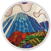 Rfb0523 Round Beach Towel