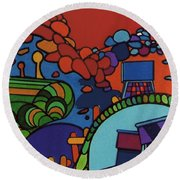 Rfb0548 Round Beach Towel