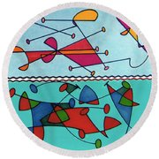 Rfb0580 Round Beach Towel