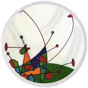 Rfb0585 Round Beach Towel