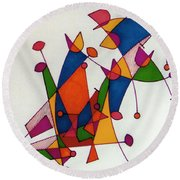 Rfb0587 Round Beach Towel
