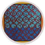 Rfb0703 Round Beach Towel