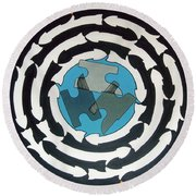 Rfb0714 Round Beach Towel