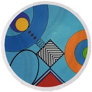 Rfb0720 Round Beach Towel